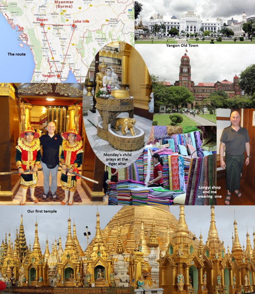 Route and Yangon